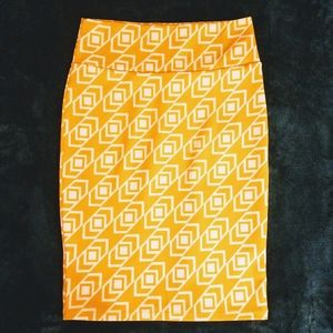 Yellow Pencil Skirt Lula Roe S